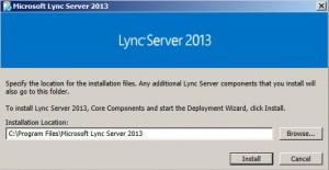 Lync 2013 Installer
