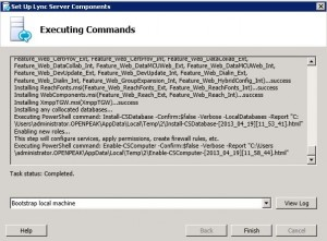 Lync 2013 Server Components Complete