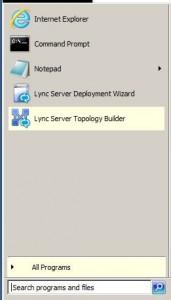 Lync 2013 Topology Builder Menu