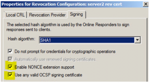Additional MS OCSP Options